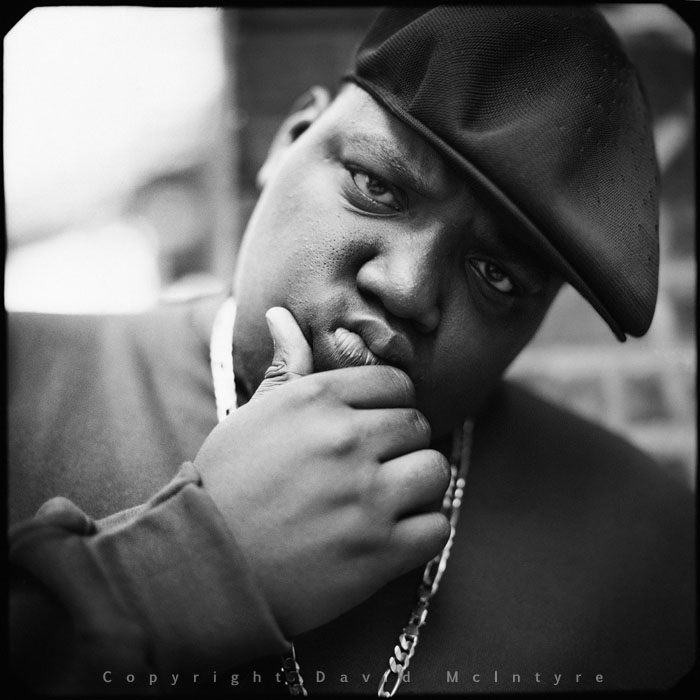 Biggie Smalls Photographed and Copyright by David McIntyre